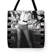 Pony Tail Lady Tote Bag