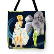 Poodle Art - The Seven Year Itch Movie Poster Tote Bag