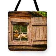 Pooh In The Attic Tote Bag