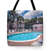 Pool And Cottages Tote Bag