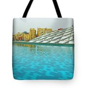 Pool And Roof Of Alexandria Library-egypt  Tote Bag