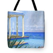 Pool Cabana Morning Tote Bag