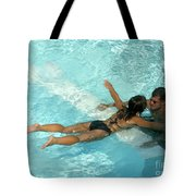 Pool Couple 9717b Tote Bag