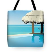 Pool On The Ocean Tote Bag