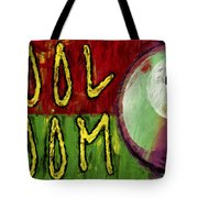 Pool Room Sign Abstract Tote Bag