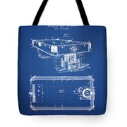 Pool Table Patent From 1892 - Blueprint Tote Bag
