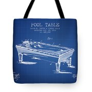 Pool Table Patent From 1901 - Blueprint Tote Bag