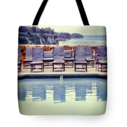 Pool With Views Of The Ocean Tote Bag