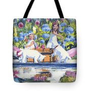 Poolside Tea I Tote Bag
