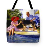 Poolside Thistle Down Tote Bag