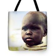 Poor Young Child Portrait. Tanzania Tote Bag