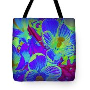 Pop Art Blue Crocuses Tote Bag