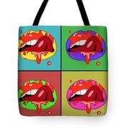 Pop Art Lips  Tote Bag