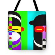 Pop Art People 4 Row Tote Bag