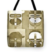 Pop Art People Monochromatic Four Tote Bag