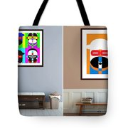 Pop Art People On The Wall Tote Bag