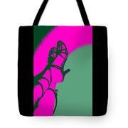 Pop Art Shoes In Pink Tote Bag