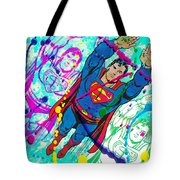 Pop Art Superman Tote Bag