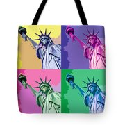Pop Liberty Tote Bag by Delphimages Photo Creations