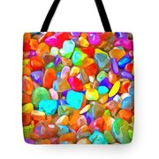 Pop Rocks Abstract Tote Bag