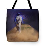 Pop Slide At Third Base Tote Bag by Thomas Woolworth