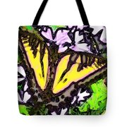 Popart Butterfly Redux Tote Bag