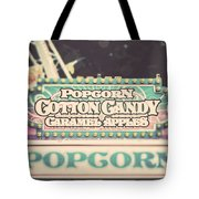 Popcorn Stand Carnival Photograph From The Summer Fair Tote Bag