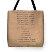 Pope Francis St. Francis Simple Prayer Organic Faith Tote Bag