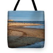 Popham Beach Curve Tote Bag by Susan Cole Kelly