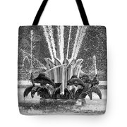 Popp Fountain In City Park Bw Tote Bag