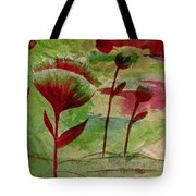 Poppies Abstract 3 Tote Bag