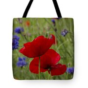 Poppies And Cornflowers Tote Bag