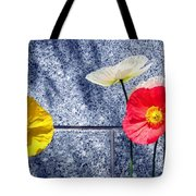 Poppies And Granite Tote Bag