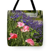 Poppies And Lavender Tote Bag