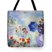 Poppies At Argenteuil Claude Monet Tote Bag