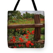 Poppies At The Farm Tote Bag