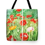 Poppies Collage I Tote Bag