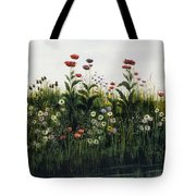Poppies, Daisies And Thistles Tote Bag