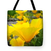 Poppies Flowers Meadow Art Prints Orange Tote Bag