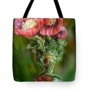 Poppies In A Poppy Vase Tote Bag