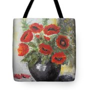 Poppies In A Vase Tote Bag
