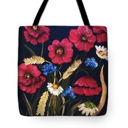 Poppies In Oils Tote Bag
