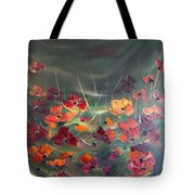 Poppies In The Shadow Tote Bag