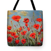 Poppies In The Wind Tote Bag