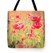 Poppies In Tuscany - Italy Tote Bag