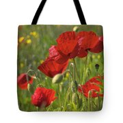 Poppies In Yorkshire Tote Bag