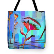 Poppies On Blue 2 Tote Bag
