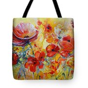 Poppies On Fire Tote Bag