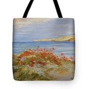 Poppies On The Beach Tote Bag