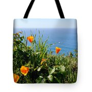 Poppies On The Pacific Tote Bag